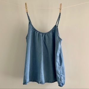 Denim loose fitting cami. Sz XS
